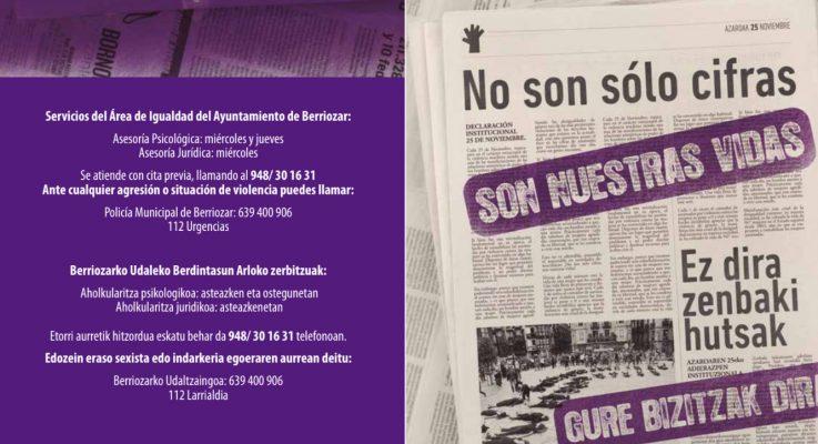 Campaña de sensibilización 25 de noviembre organizada por el Ayuntamiento